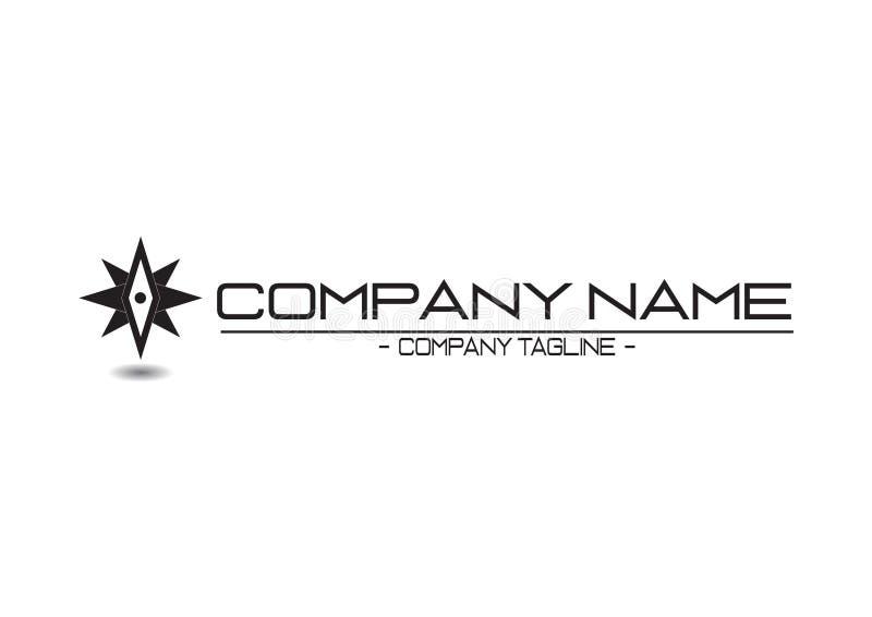 Eenvoudig Modern Professioneel Logo For uw bedrijf royalty-vrije illustratie