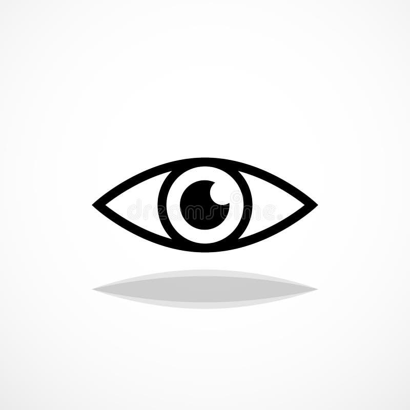 eenvoudig oogpictogram royalty-vrije illustratie