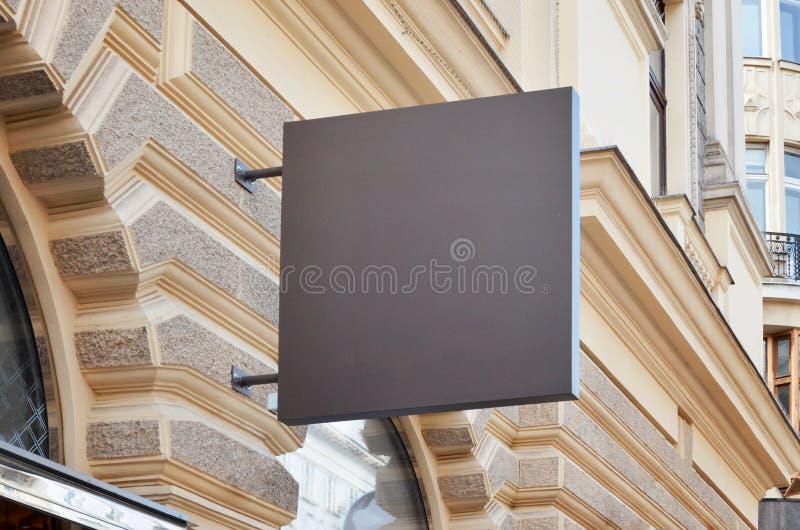 Eenvoudig opslagsignage model Vierkante vorm royalty-vrije stock fotografie