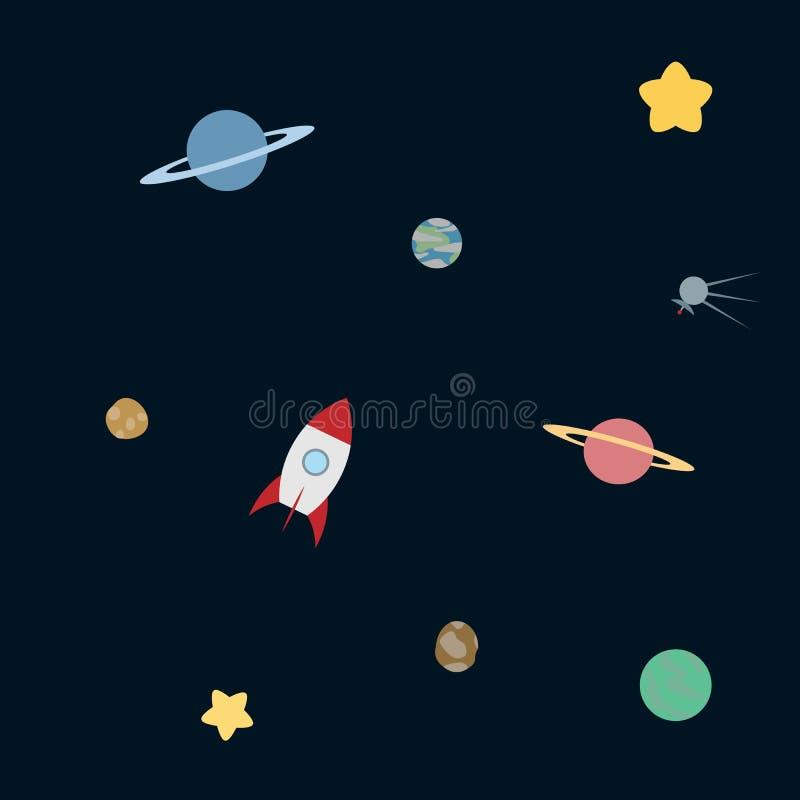 Eenvoudig ruimtepatroon vector illustratie