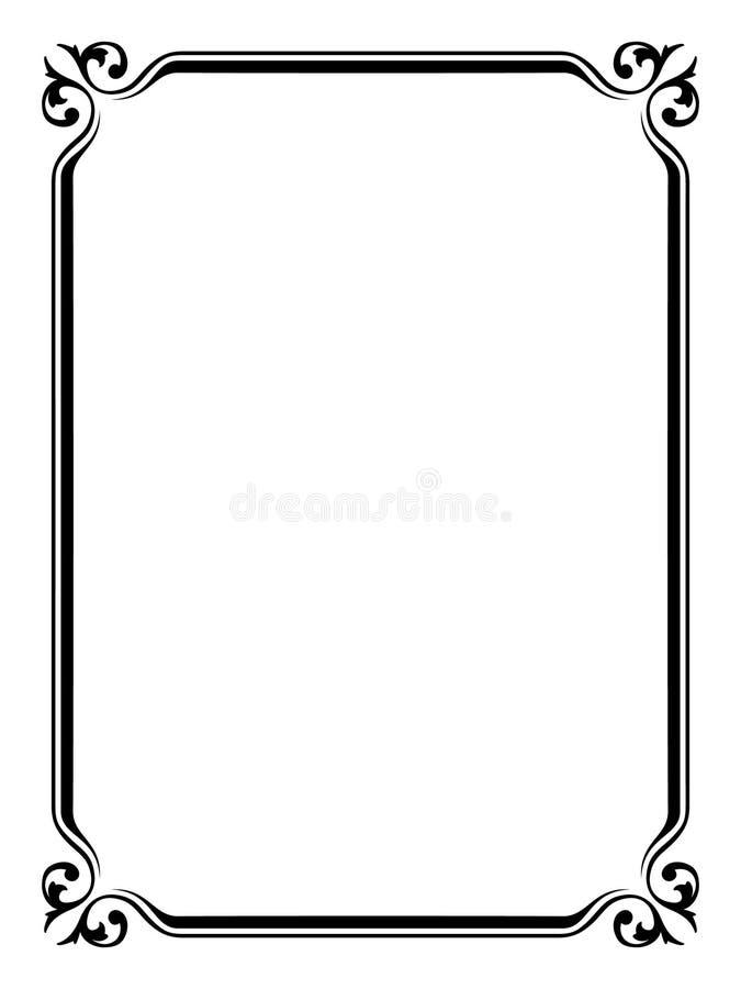 Eenvoudig sier decoratief frame royalty-vrije illustratie