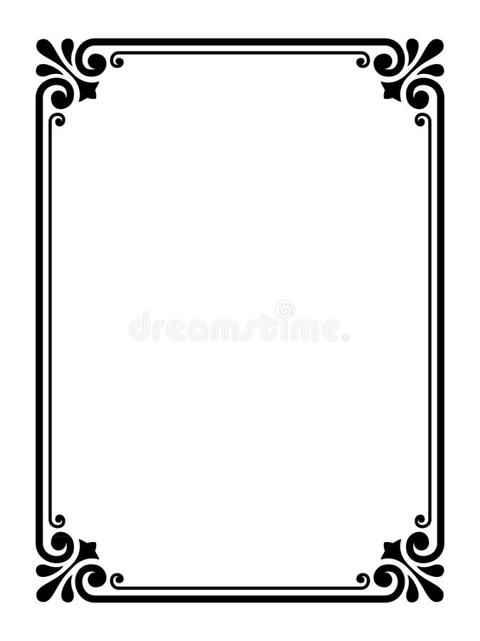Eenvoudig sier decoratief frame vector illustratie