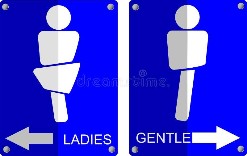 Eenvoudig teken van toiletsymbolen royalty-vrije illustratie