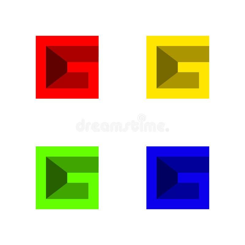 Eenvoudig van bedrijfs g collectief embleem royalty-vrije illustratie