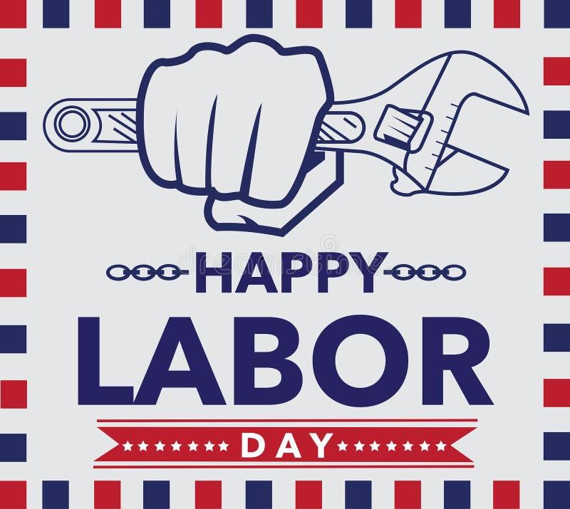 Eenvoudig van de de Arbeidsdag van Amerika de affiche uitstekend ontwerp vector illustratie