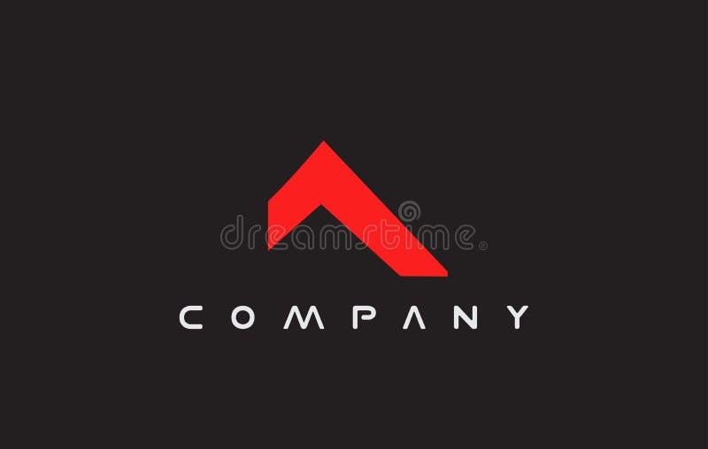 Eenvoudig van het het dakembleem van het onroerende goederenhuis het pictogramontwerp vector illustratie