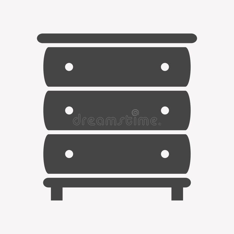 In Eenvoudig van het kastpictogram royalty-vrije illustratie