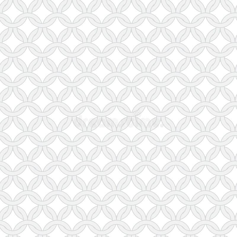 Eenvoudig vector naadloos verweven ringenpatroon vector illustratie