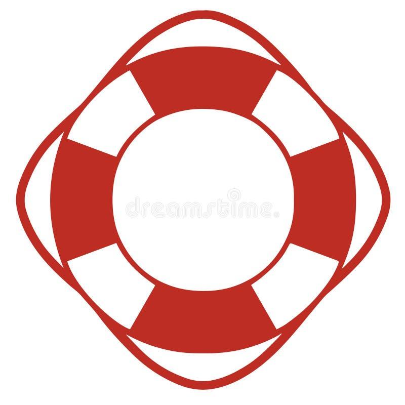 Eenvoudig vectorpictogram van rond lifesaver vector illustratie