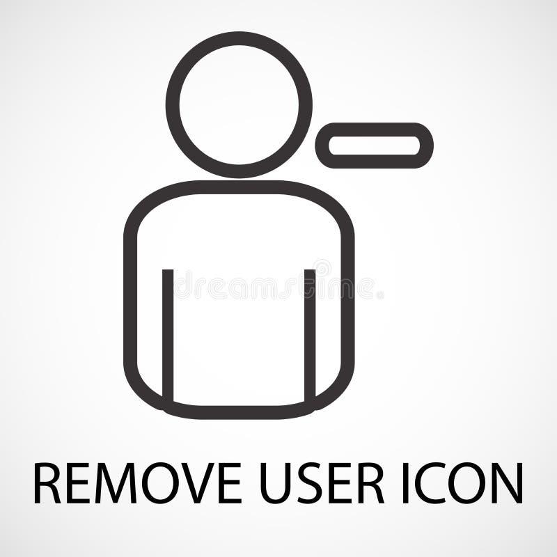Eenvoudig verwijder gebruikerspictogram, vector stock illustratie