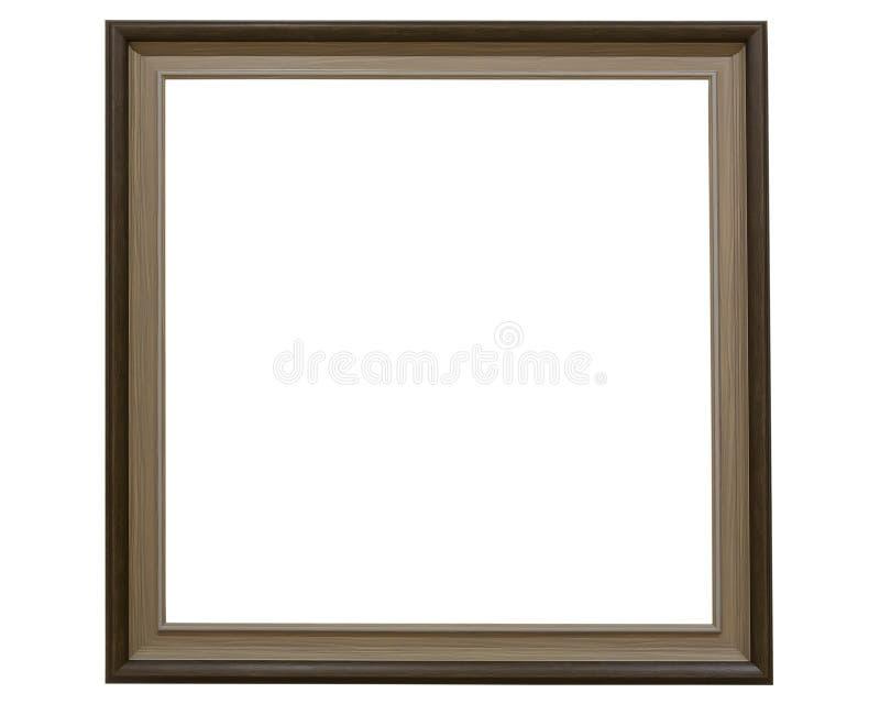 Eenvoudig vierkant plastic fotokader stock foto