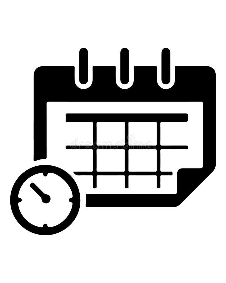 Eenvoudig Vlak Kalenderpictogram royalty-vrije illustratie