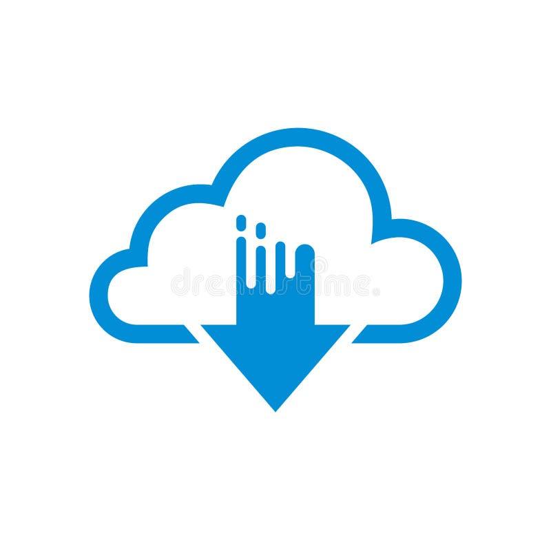 Eenvoudig Vlak Minimalistisch Wolkenapp Pictogram royalty-vrije illustratie
