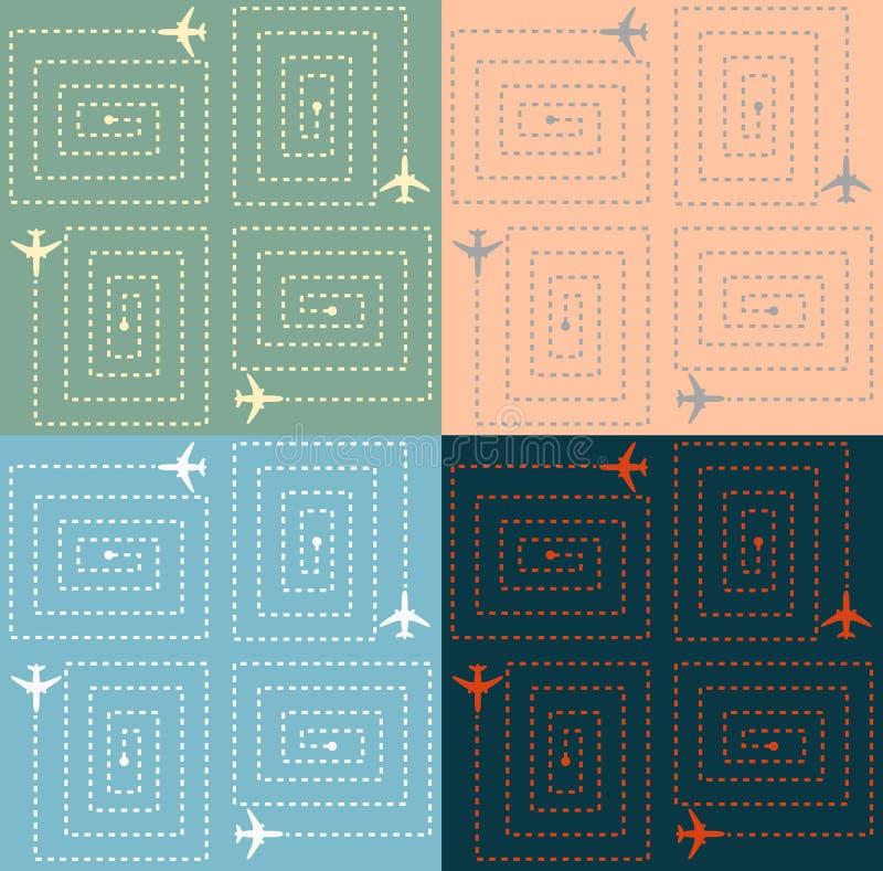 Eenvoudig Vliegtuigenpatroon vector illustratie