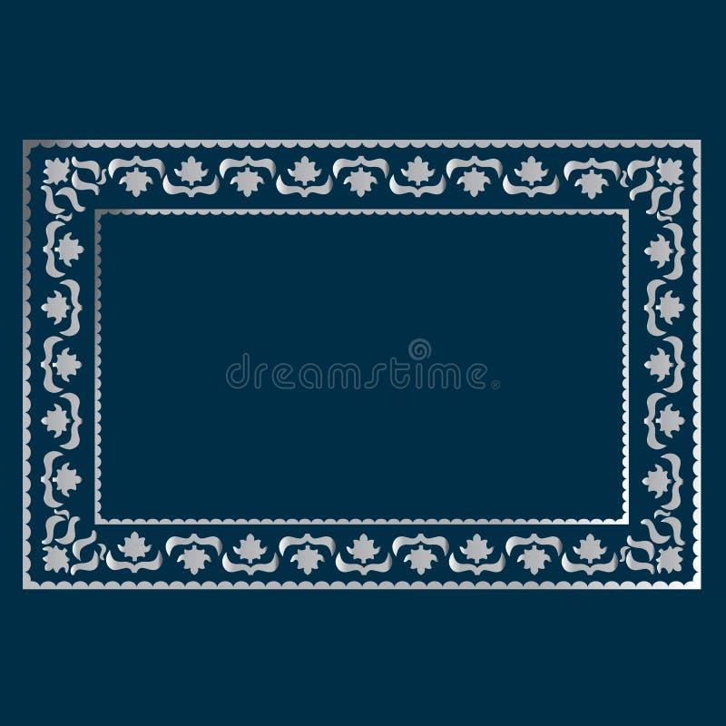 Eenvoudig zilveren kader vector illustratie