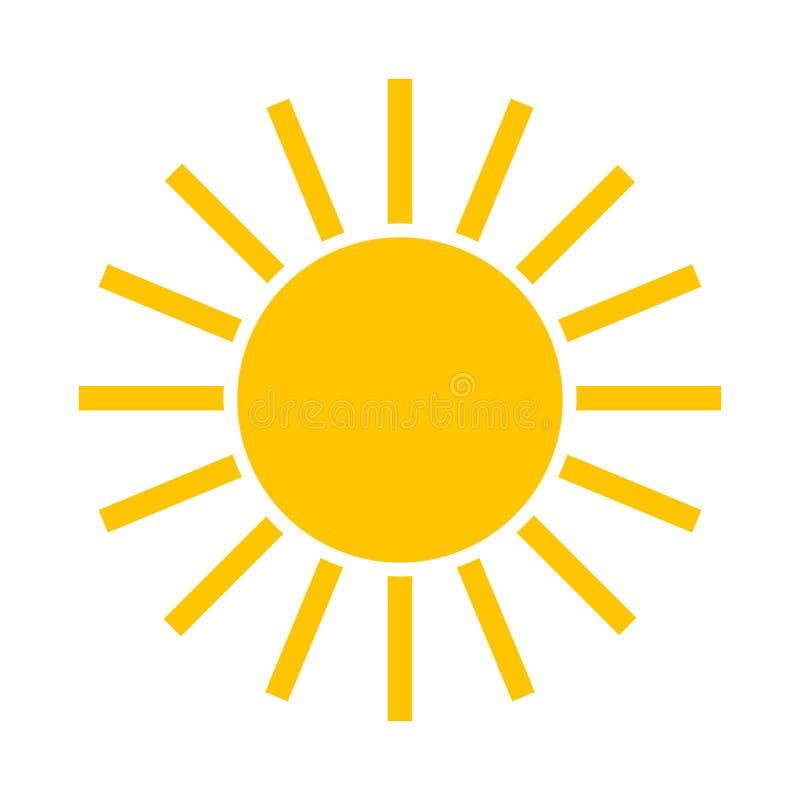 Eenvoudig zonpictogram royalty-vrije illustratie
