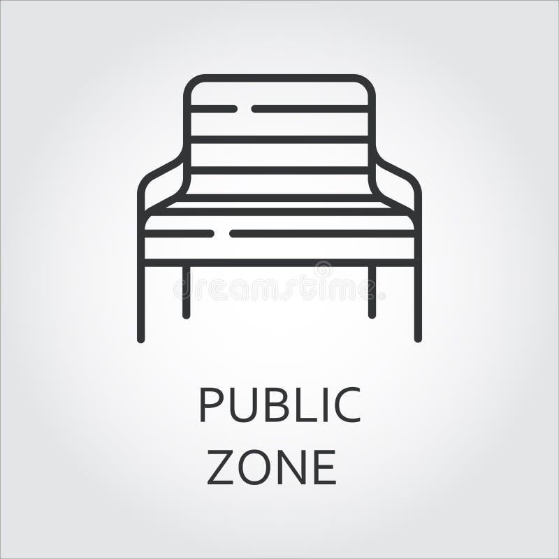 Eenvoudig zwart pictogram van bank Openbaar streeksymbool royalty-vrije illustratie