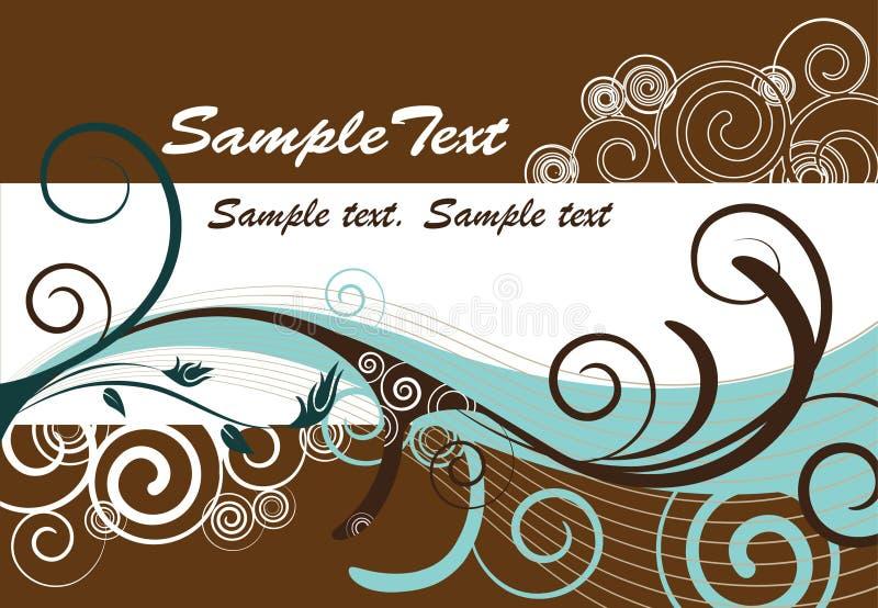 Eenvoudige achtergrond met ruimte voor tekst stock illustratie