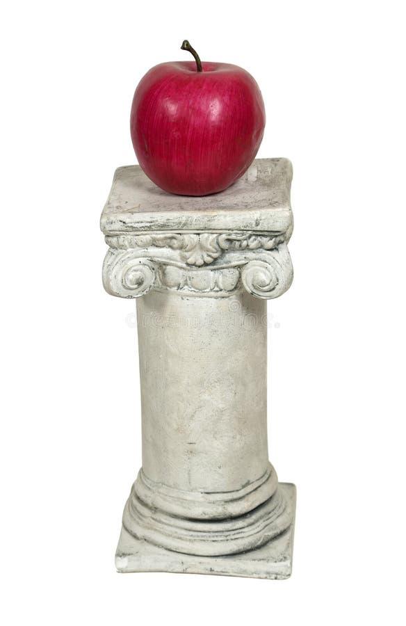 Eenvoudige Appel op een Voetstuk stock afbeelding