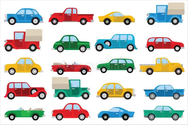 Eenvoudige auto's royalty-vrije stock afbeelding