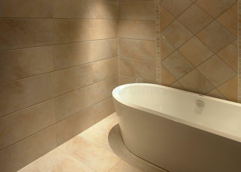 Eenvoudige badkamers royalty-vrije stock afbeelding