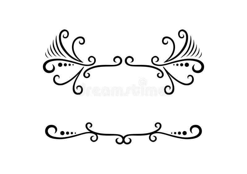 Eenvoudige Bloemen Zwart-wit door Pitripiter royalty-vrije illustratie