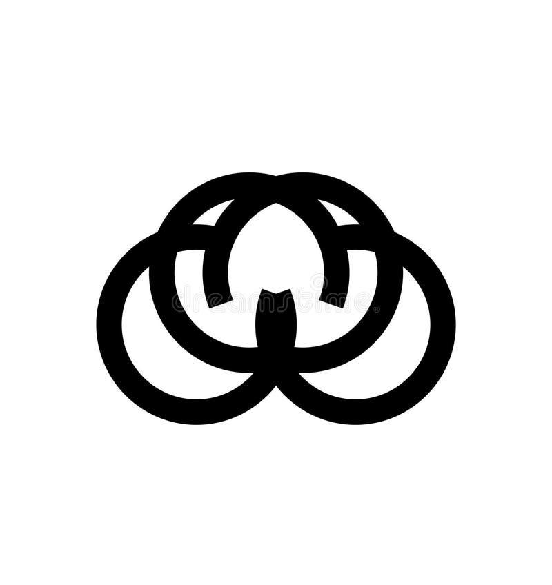 Eenvoudige COCO, CUC, CCCC de vormembleem van de initialencirkel stock illustratie