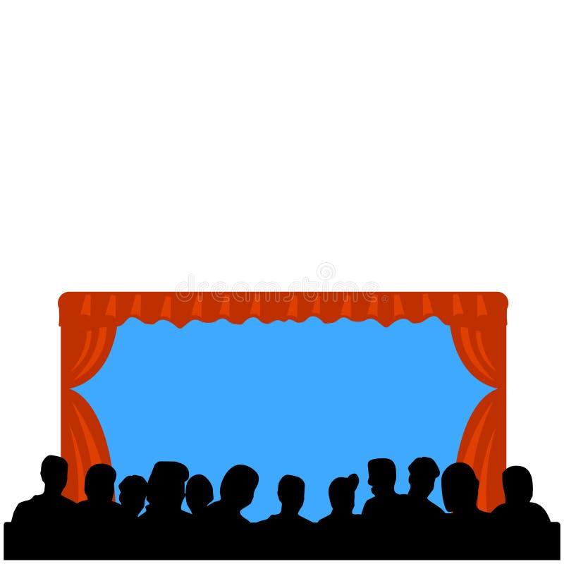 Eenvoudige de opkomst van het theater stock illustratie