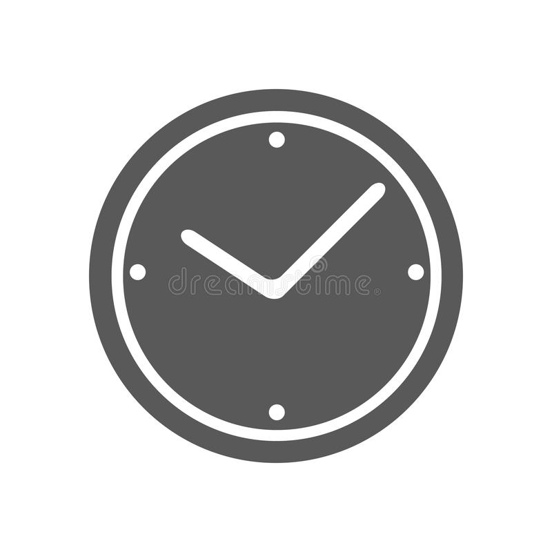 Eenvoudige de vector van het klokpictogram stock illustratie