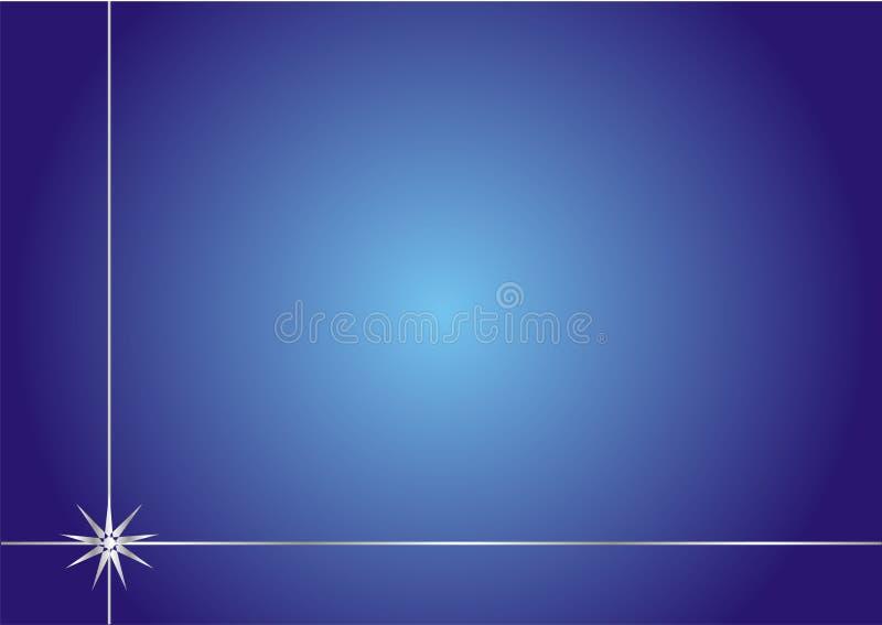 Eenvoudige elegante blauwe achtergrond met zilveren frame royalty-vrije illustratie
