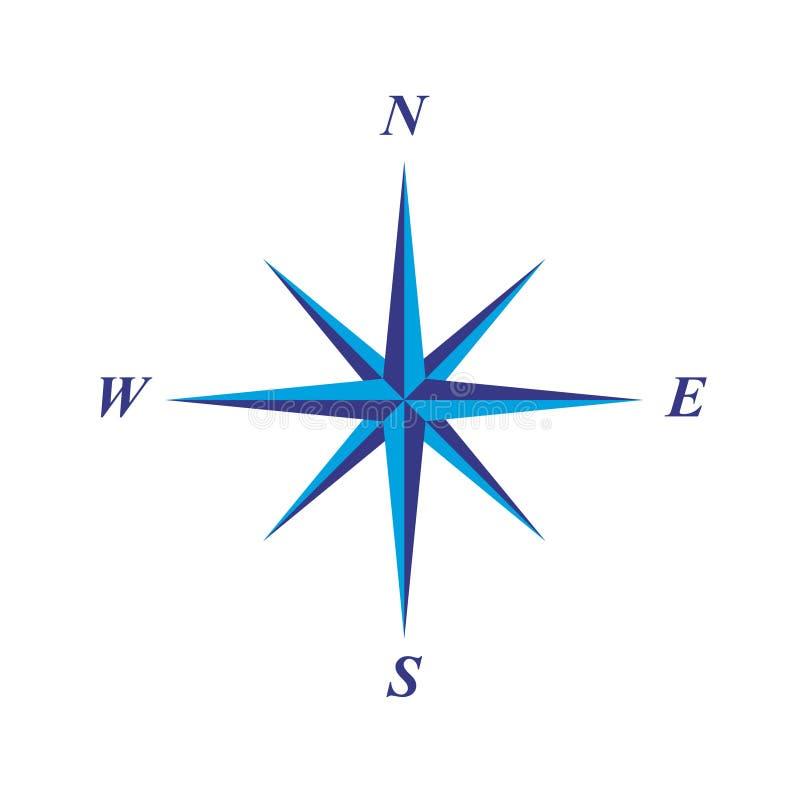Eenvoudige elegante windroos vector illustratie