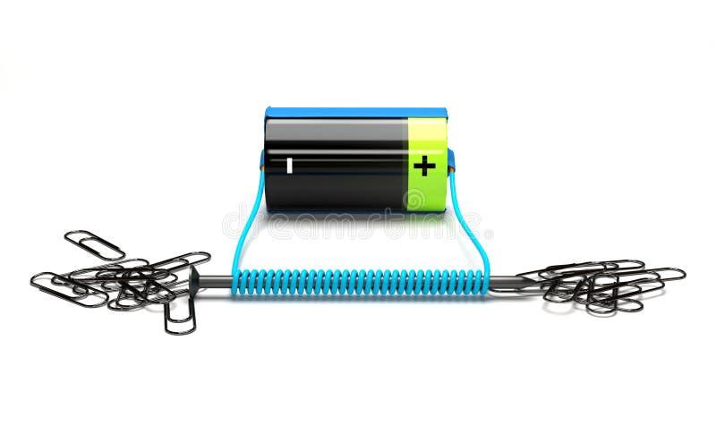 Eenvoudige elektromagneet op een witte achtergrond vector illustratie