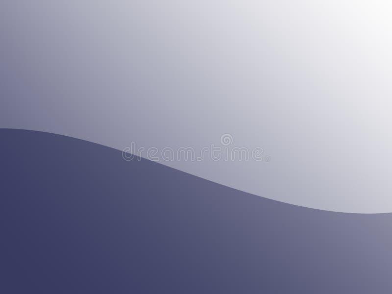 Eenvoudige fractal in grijs met een golvende kromme in het midden stock illustratie