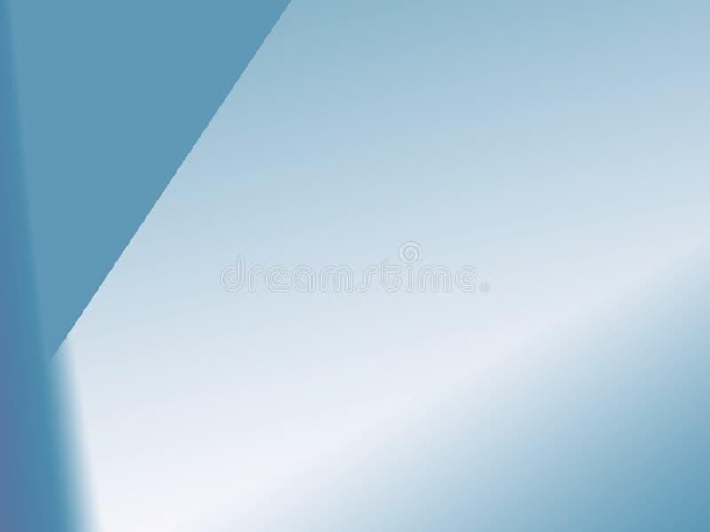 Eenvoudige fractal in saai blauw met onregelmatige lijnen met inbegrip van ruimte voor tekst royalty-vrije illustratie