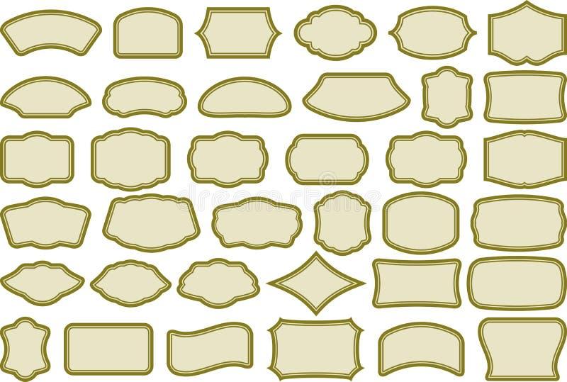 Eenvoudige frames stock illustratie