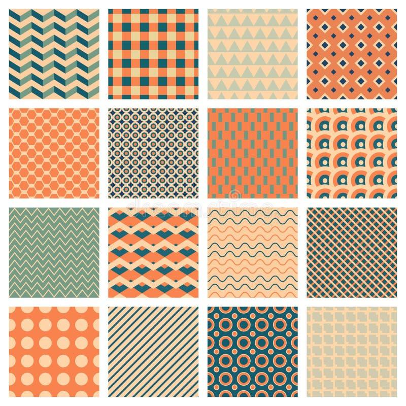 Eenvoudige geometrische patronen vector illustratie