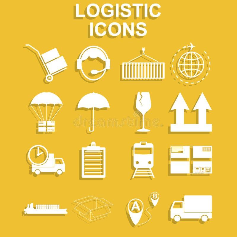 Eenvoudige geplaatste logistiekpictogrammen vector illustratie