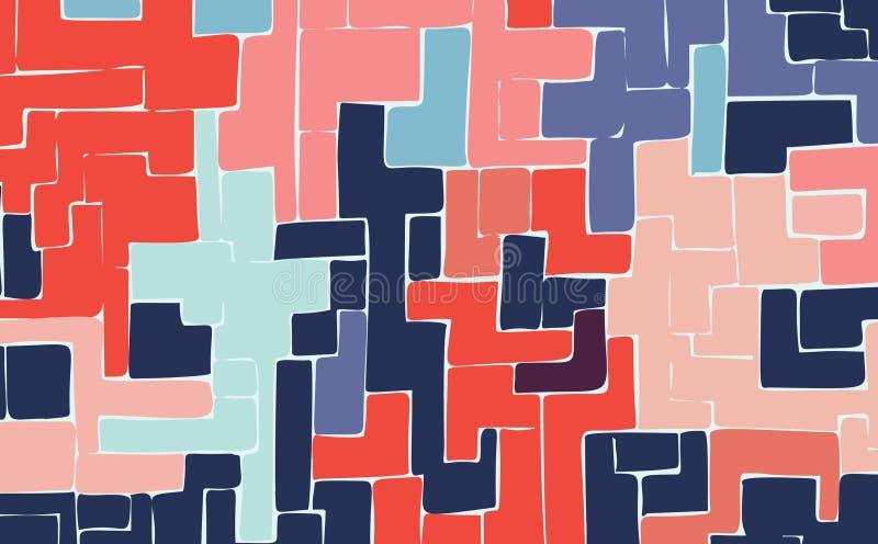 Eenvoudige geschilderde multi-colored geometrische cijfersachtergrond voor ontwerp stock afbeelding