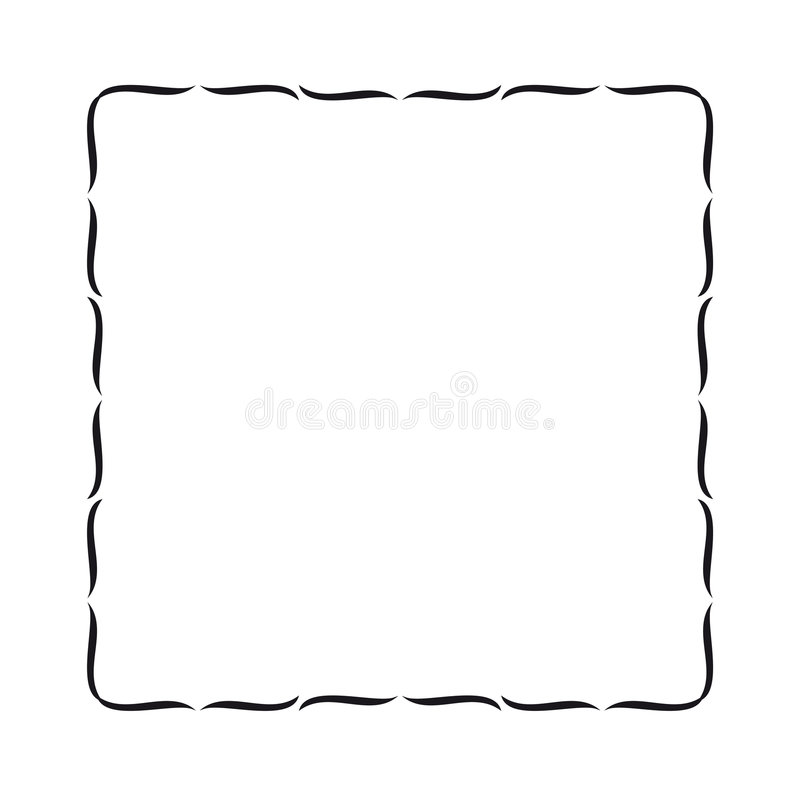 Eenvoudige golvende grens royalty-vrije illustratie