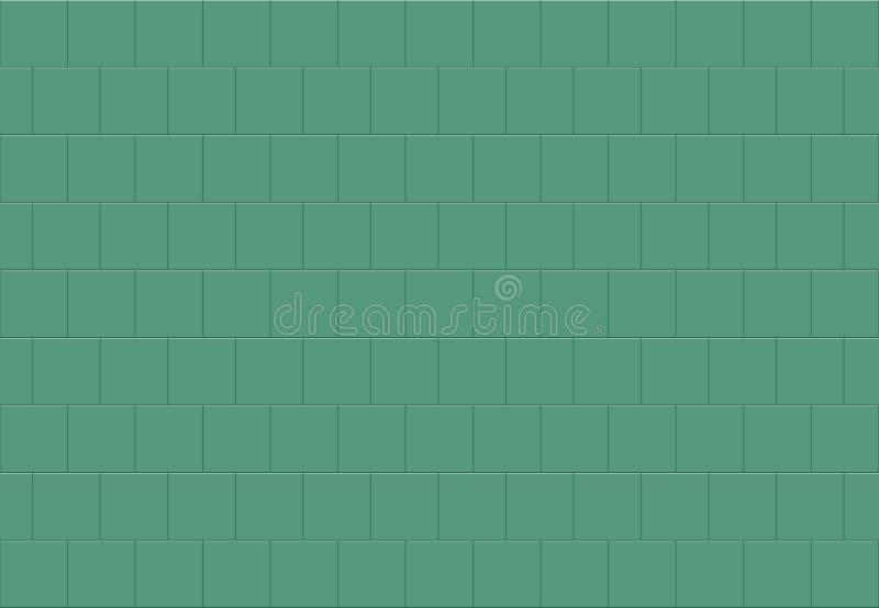 Eenvoudige groene vierkante ceramische de textuurachtergrond van mozaïektegels royalty-vrije illustratie