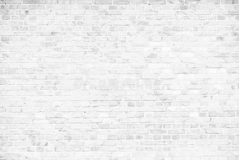 Eenvoudige grungy witte bakstenen muur als naadloze achtergrond van de patroontextuur royalty-vrije stock foto