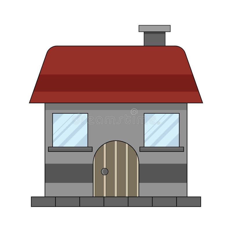 Eenvoudige, kleine vlakke huisillustratie vector illustratie