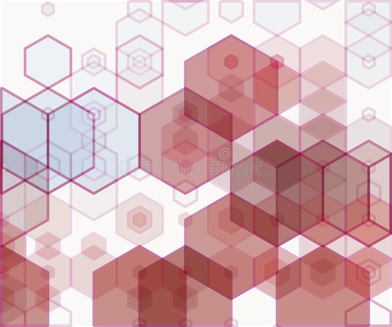 Eenvoudige kleurrijke achtergrond die uit zeshoeken bestaan royalty-vrije illustratie