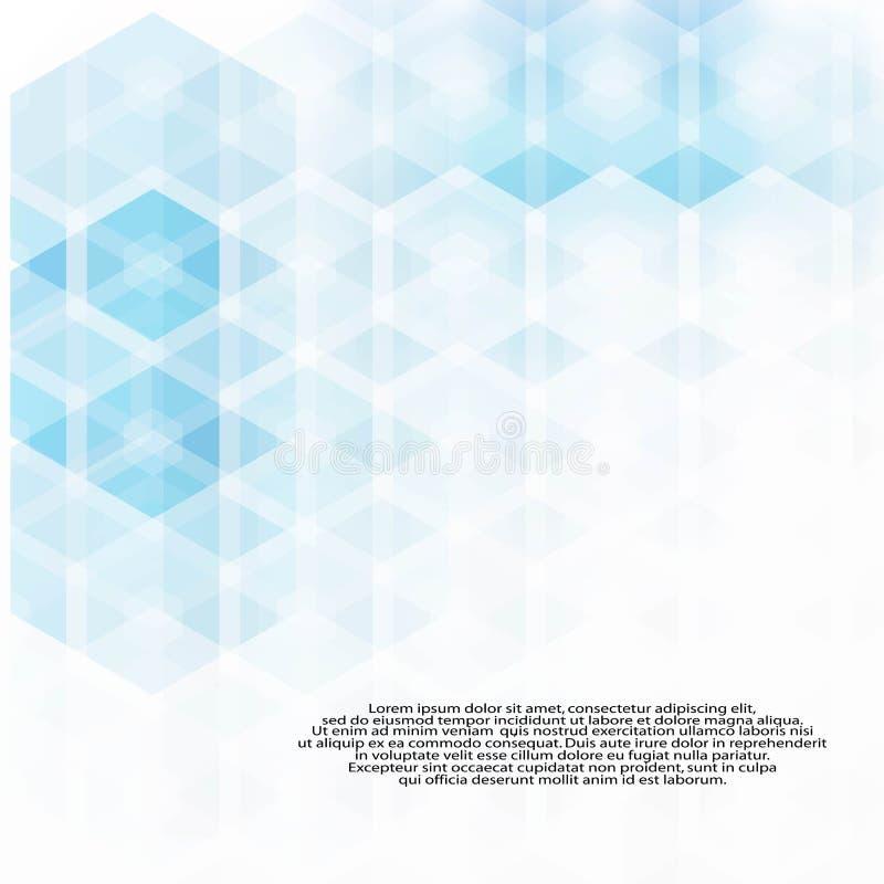 Eenvoudige kleurrijke achtergrond die uit zeshoeken bestaan Blauwe zeshoeken stock illustratie