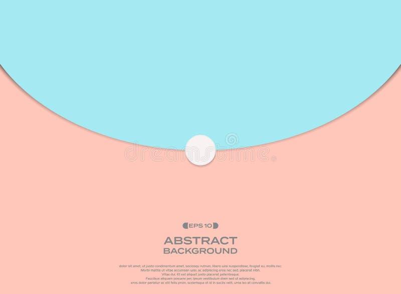 Eenvoudige kleurrijke roze en blauwe achtergrond met vrije ruimte van tekst royalty-vrije illustratie