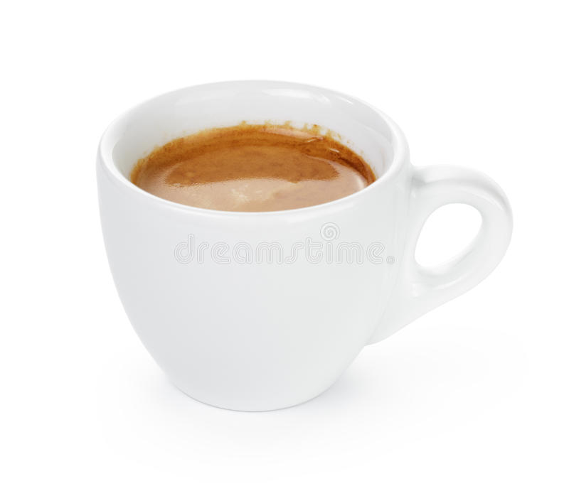 Eenvoudige kop van dubbele espresso in de kop stock foto's
