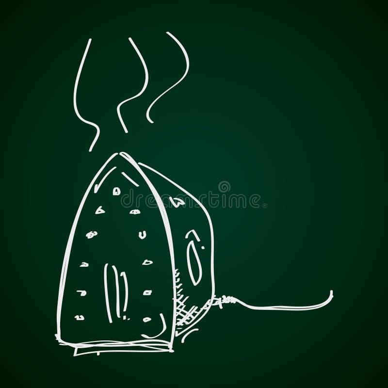 Eenvoudige krabbel van een ijzer stock illustratie