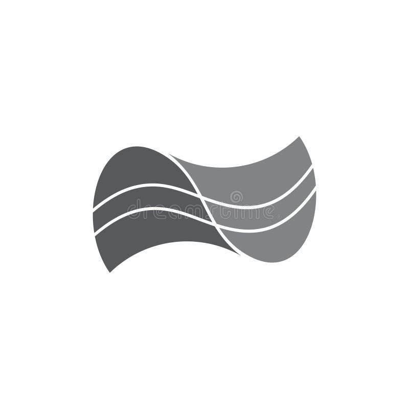 Eenvoudige krommen verbonden abstracte embleemvector stock illustratie