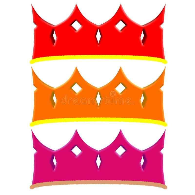 Eenvoudige kroon vector illustratie