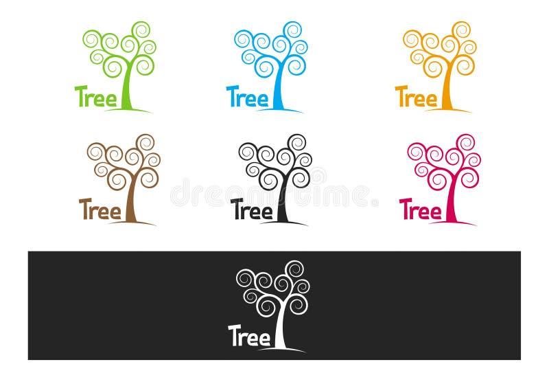 Eenvoudige krullende colorfullboom royalty-vrije stock foto's